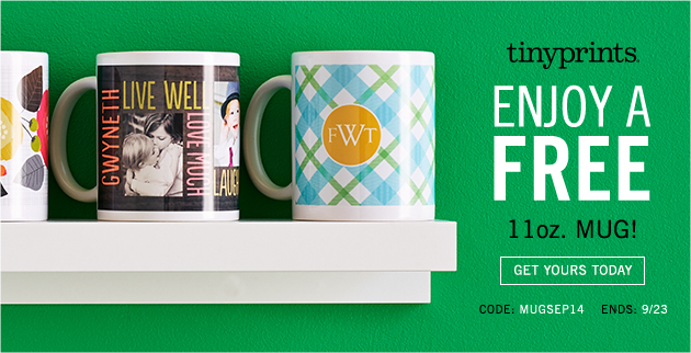 Create Your FREE Custom Mug at Tiny Prints!
