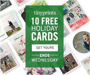 FREE 10 Holiday Cards from Tin...