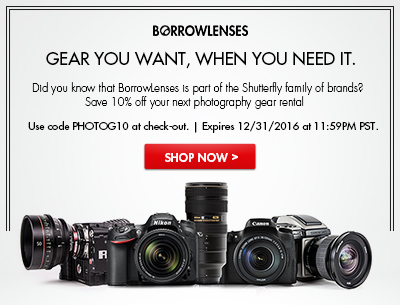 Borrow Lenses - 10% Off