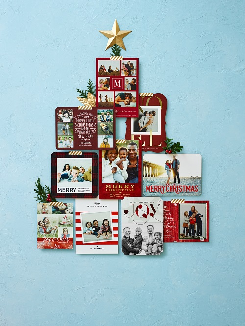 Tiny Prints holiday card tree