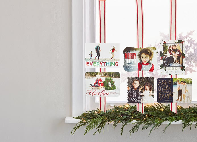 The sky is the limit for Christmas and holiday cards at Tiny Prints.