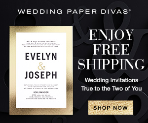 Wedding Paper Divas 25% Off Sitewide Black Friday 300x250