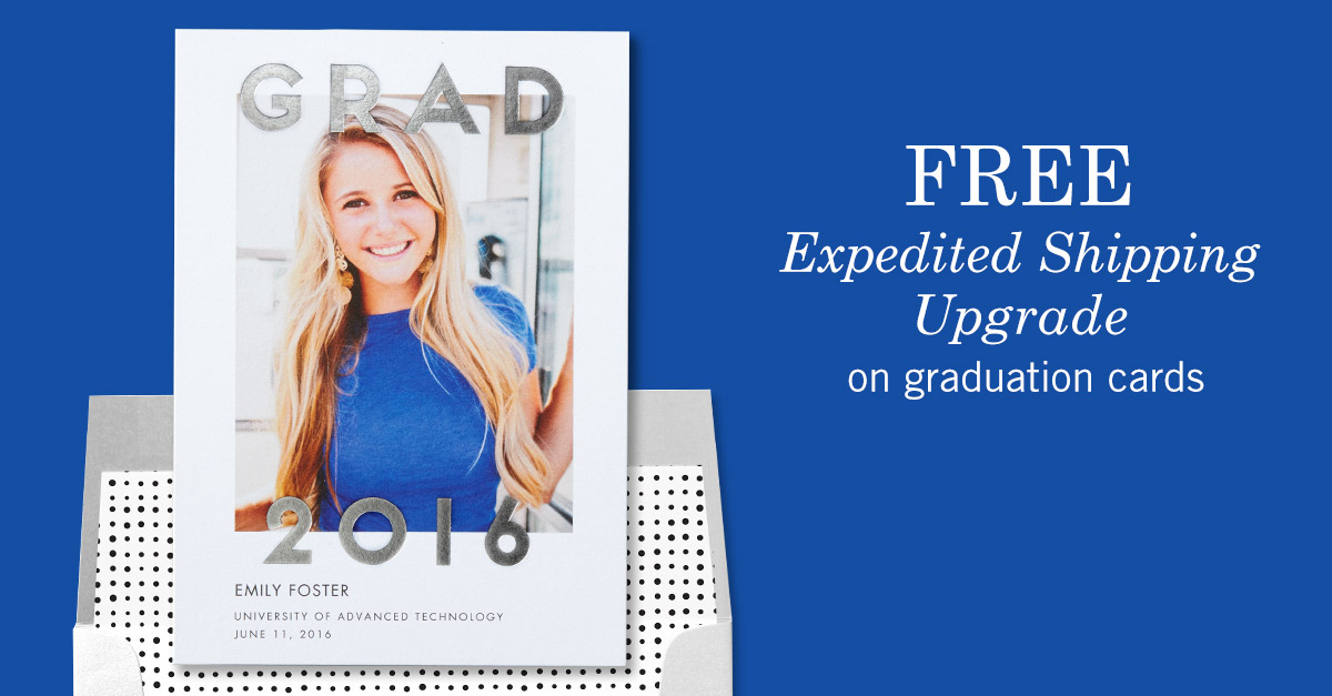 Tiny Prints - Free Expedited Shipping Upgrade