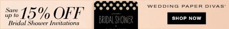 Bridal Shower Invitations from Wedding Paper Divas