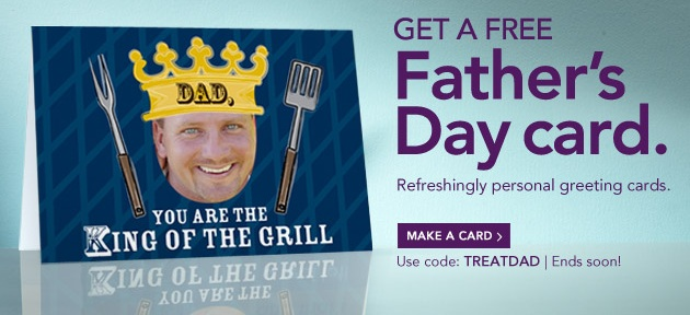 Flash Sale! FREE Father's Day Card from Treat!