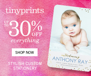 Tiny Prints - Sitewide Sale Up to 30% Off