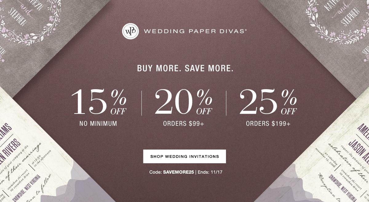 Wedding Paper Divas - Up to 25% Off