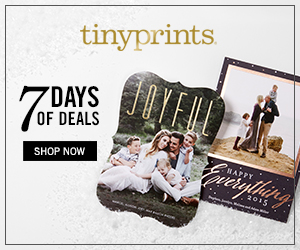 Shop our 7 Days of Deals at Tinyprints.com!