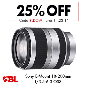 Sony E-Mount 18-200mm f/3.5-6.3 PZ OSS Lens