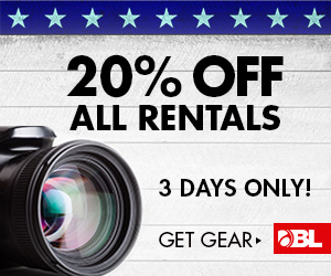 $25 Off All BorrowLenses Rentals Over $25