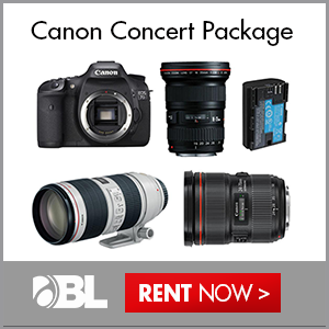 Rent Now! Canon Concert Package