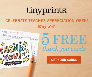 5 Free Thank You Cards Plus 50% Off Additional Thank You Cards
