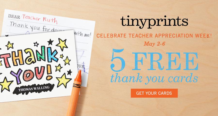 5 free teacher appreciation thank you card  50