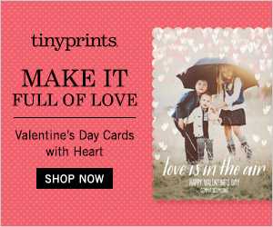 Valentines Day Card from Tiny Prints
