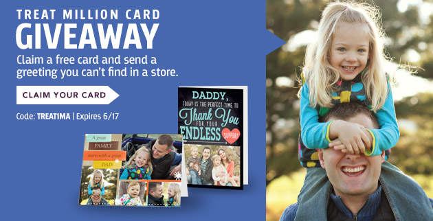Treat is giving away 1 million greeting cards
