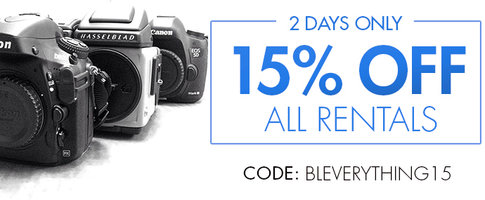 Save 15% on All Rentals - Two Days Only