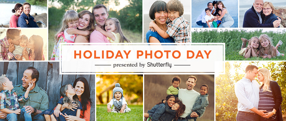 Earn money for your cause through Shutterfly's Holiday Photo Day!