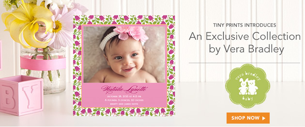 Introducing Vera Bradley Stationery on Tiny Prints – 20% Off!