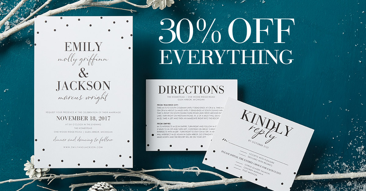 Wedding Paper Divas - Sitewide Sale
