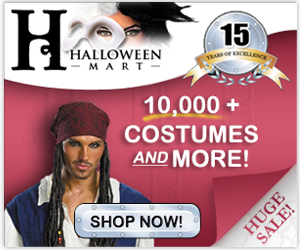 Over 10,000 costumes and accessories from HalloweenMart