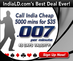 IndiaLD Cheapest calls to Call India