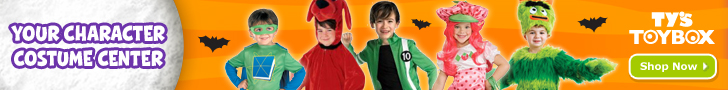 Official licensed character costumes for all ages, available at Ty's Toy Box!