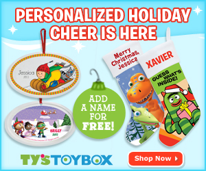 Personalized holiday collectibles & this season's hottest toys make Ty's Toy Box the ultimate destination for holiday shopping!