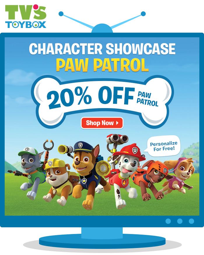 Shop Paw Patrol,Character Showcase: 20% Off Paw Patrol -