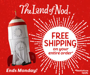 Free Shipping 4th of July Weekend at Land of Nod