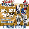 10% off Baseball Batting Gloves
