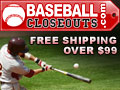 Baseball Closeouts - Cheap Baseball Gear, Free Shipping.