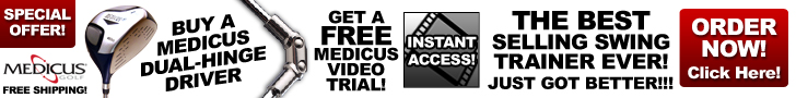 EXCLUSIVE OFFER! Purchase A Driver & We'll Include A Free Trial Membership in Medicus Video with Hundreds of Videos and Live Interactive Webinars with Top Instructors! Offer Not Available in Stores!