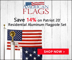 Save 14% on Patriot 20' Residential Aluminum Flags