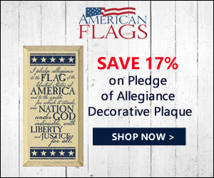 Save 17% on Pledge of Allegiance Decorative Plaque 300x250 banner