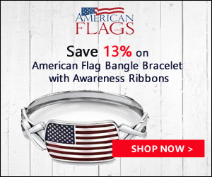 Save 13% on Flag Bangle Bracelet 300x250 banner