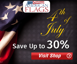 Save Upto 30% this Independence day on American Flags