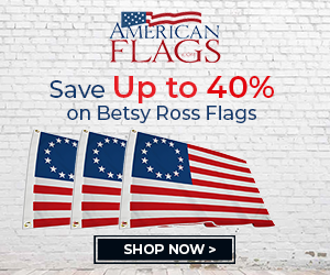 American Flags Betsy Ross 300x250 banner