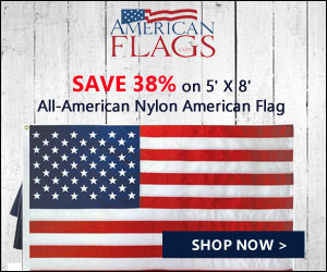 Save 38% on 5' X 8' All-American Nylon American Flag 300x250 banner