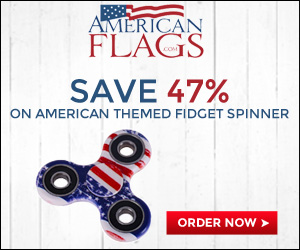Americanflags.com Save 47% on American Themed Fidget Spinner