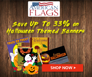 Americanflags.com Save upto 33% on Premium Halloween Banner Ads