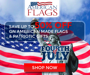 Americanflags.com July 4th Banner 300x250