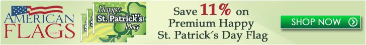 Americanflags.com - Save 11% on Premium St Patricks Day Flag