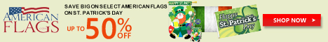 American Flags St Patricks Day Premium Flags