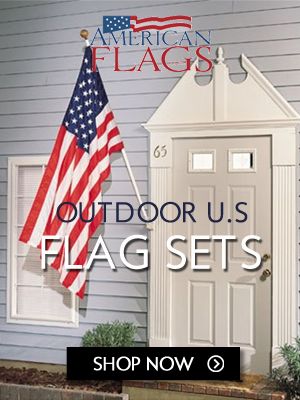 American Outdoor US Flag Sets 300x400