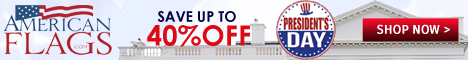 Americanflags.com - Save upto 40% OFF on Presidents Day