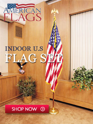Indoor American Flag Sets 300x400