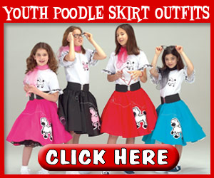 Youth Poodle Skirt Outfits - 300 x 250
