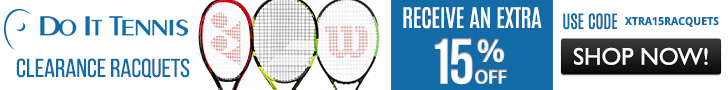 Affiliate Exclusive - Receive an Extra 15% off SELECT Clearance Racquets. While Supplies Last - Use code XTRA15RACQUETS at DoItTennis.com