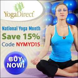 September is National Yoga Month! Save 15% off site wide at YogaDirect.com with coupon code NYMYD15!