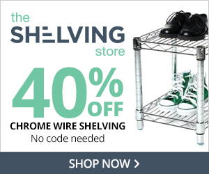 40% Off Chrome Wire Shelving at TheShelvingStore.com, no code needed.